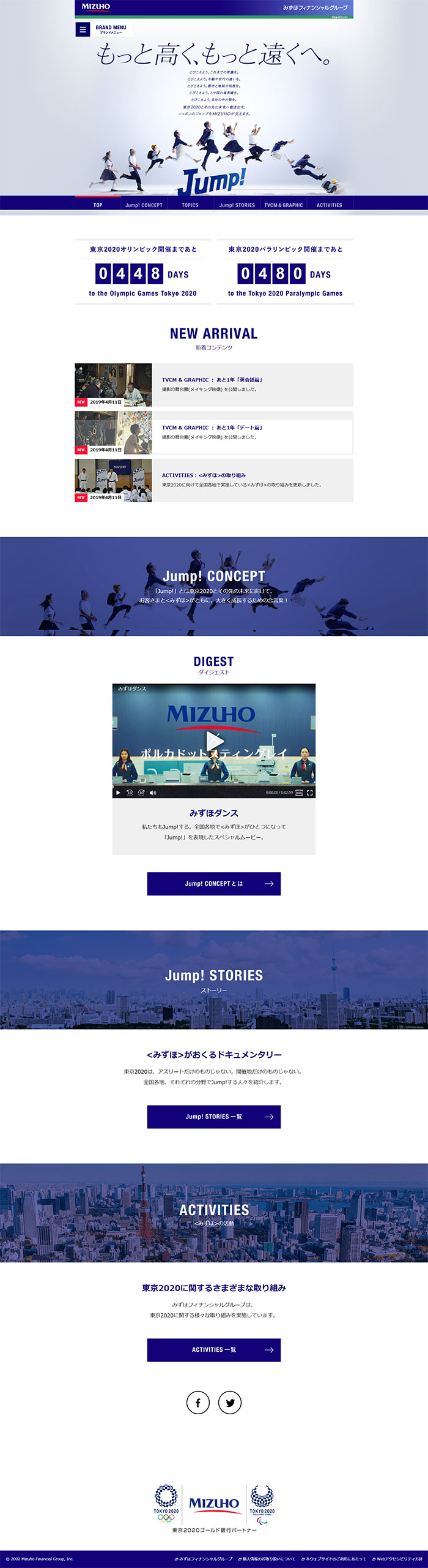 みずほFG : <みずほ>東京2020特設サイト